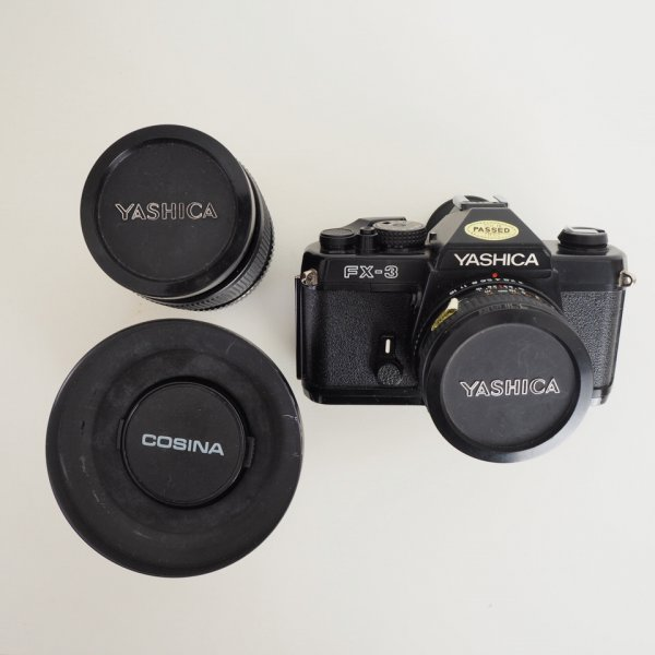 Yashica FX-3 + 50mm + 28mm + 135mm